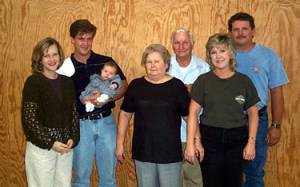 The Sullivan family: Aleetha, Todd, baby Alexandra, Ruth, Sam, Carolyn and Sammy