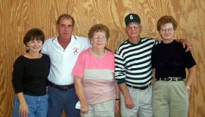 Karen, Terry, Willina, Rolf and Loretta Gregory