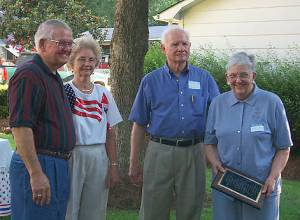 Gene and Barbara Gregory with Reginald Gregory and Margaret Peake