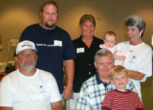 Eddie Jr and Gail Gregory, Becky and Hope Thompson, Eddie Gregory,  Earl Thompson Jr, Austin Hatchell