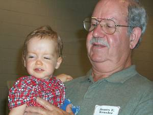 James Kealer and grandson Blake