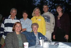 Rick, Eileen, Georgann, Mike, Patty, and Dorothy Wachter with Judy Porter