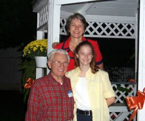 Elaine, Allan and Suzie Jeter