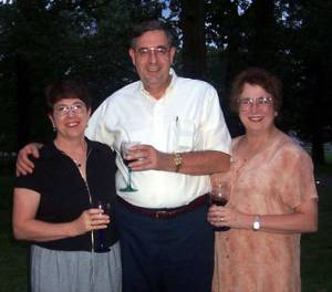 Jack Gregory and his sisters: Barbara Gabriel and Judy Compton