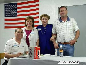Danny Donaldson, Judy Donaldson, Diana Gregory, and Grady Gregory