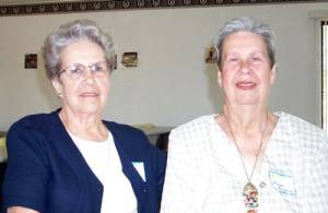 Ida Hise and Doreen Gregory