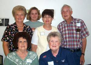 Brenda and Shannon McDonald, Jane Penning, Bob Wiesen, Betty Noth, Mary Wiesen