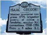 Isaac Gregory A30 Historical Marker