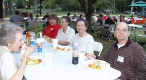 Left Side: Joanne and Mary Jo Gregory, Anita Sanders, John Gregory