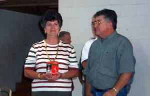 Voncille Styres and Marvin Gregory delivering awards
