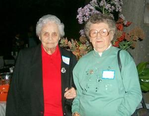 Vivian Gregory and Ruby Lee Stevens