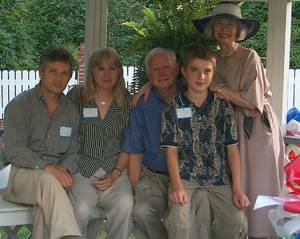 Sasha and Ann Gregory-Polansky, Reginald Gregory, Max Gregory-Polansky, Elaine Gregory