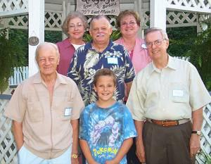 Top Row Alva Waddington, Mack and Dale Gregory, Marvin Gregory, Tyler Moore, Jack Waddington