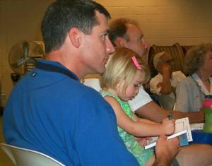John Gregory and daughter Megan, age 2