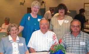 Standing, Linda Crissinger and Linda Bobo, sitting, Elizabeth and Frank Bobo