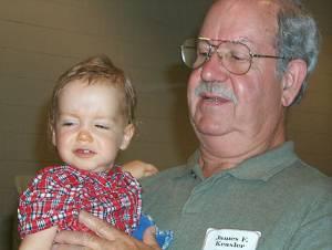 James Kealer and grandson Blake