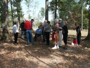 Gathering at the Gregory Cemetery