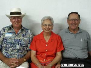 Jake Donaldson, Joye Donaldson (Glenn's wife), and Glenn Donaldson