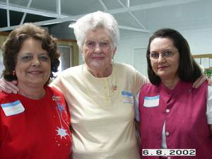 Lyndell (Noth) Cockburn, Betty Jo (Ingram) Noth, and Eileen (Noth) Squires
