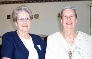 Ida Hise and Doreen Gregory